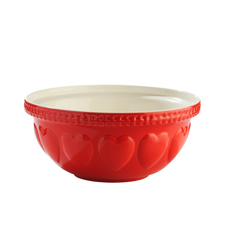Mason Cash Hearts Mixing Bowl Red