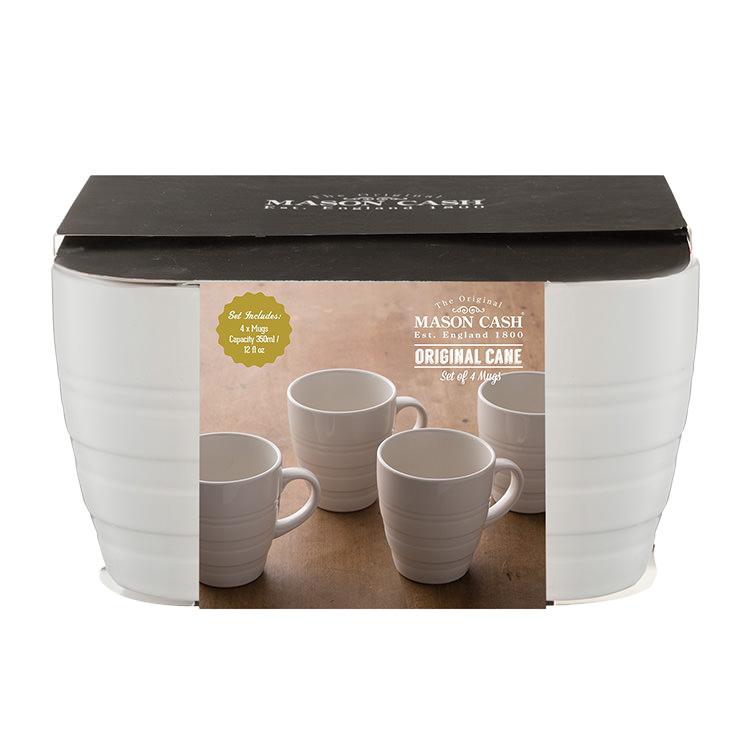 Mason Cash Original Cane Collection Mug 350ml Set of 4 Cream