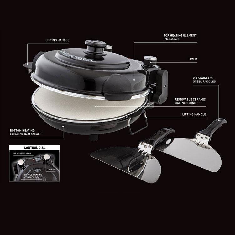 MasterPro Ultimate Pizza Oven Black