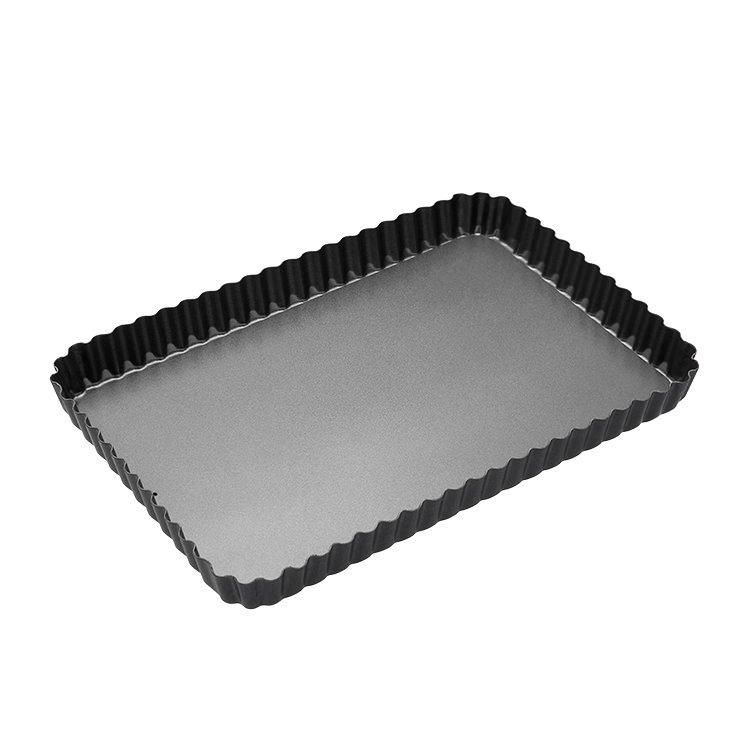 MasterCraft Non-Stick Loose Base Fluted Rectangular Flan/Quiche Pan 31x21cm