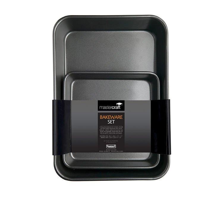 MasterCraft Non-Stick Roast Pan Twin Pack (Roasting Pan/Square Bake Pan)
