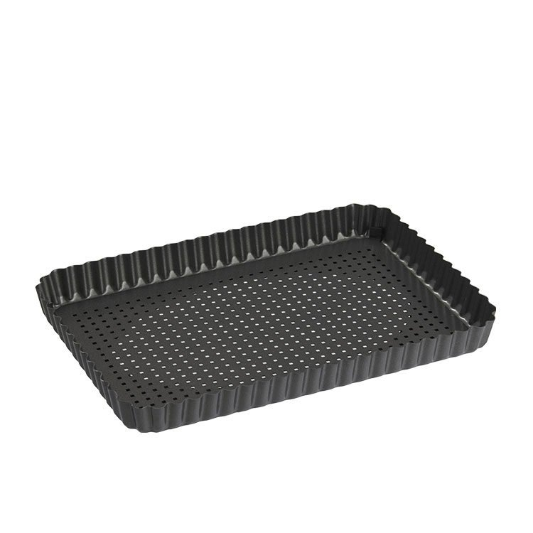 MasterPro Crispy Bake Loose Base Rectangular Flan Tin 31.5x21.5x3cm