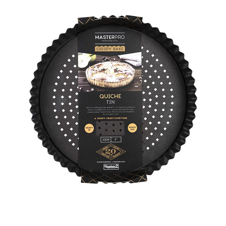 MasterPro Crispy Bake Loose Base Round Quiche Tin 23x3.5cm