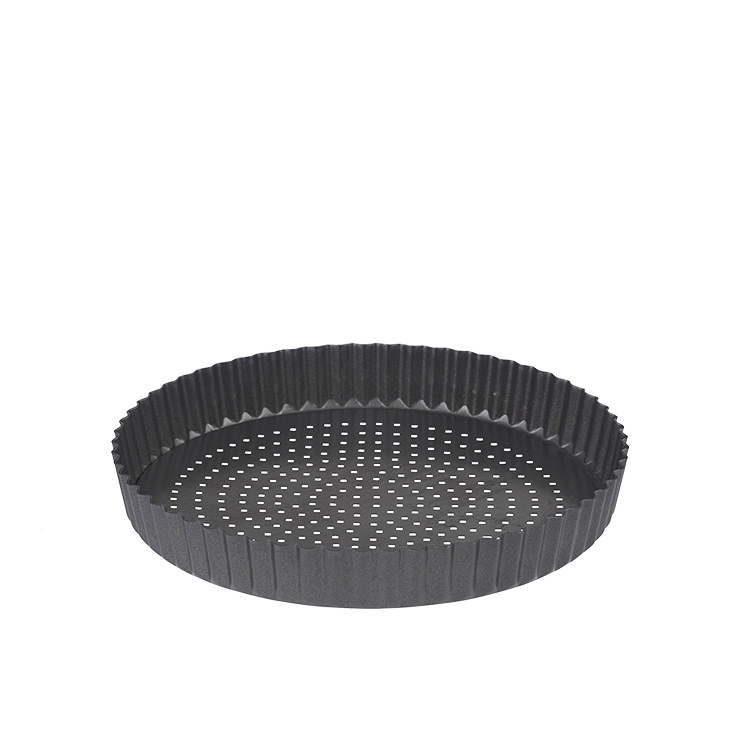 MasterPro Crispy Bake Loose Base Round Quiche Tin 25x3.5cm