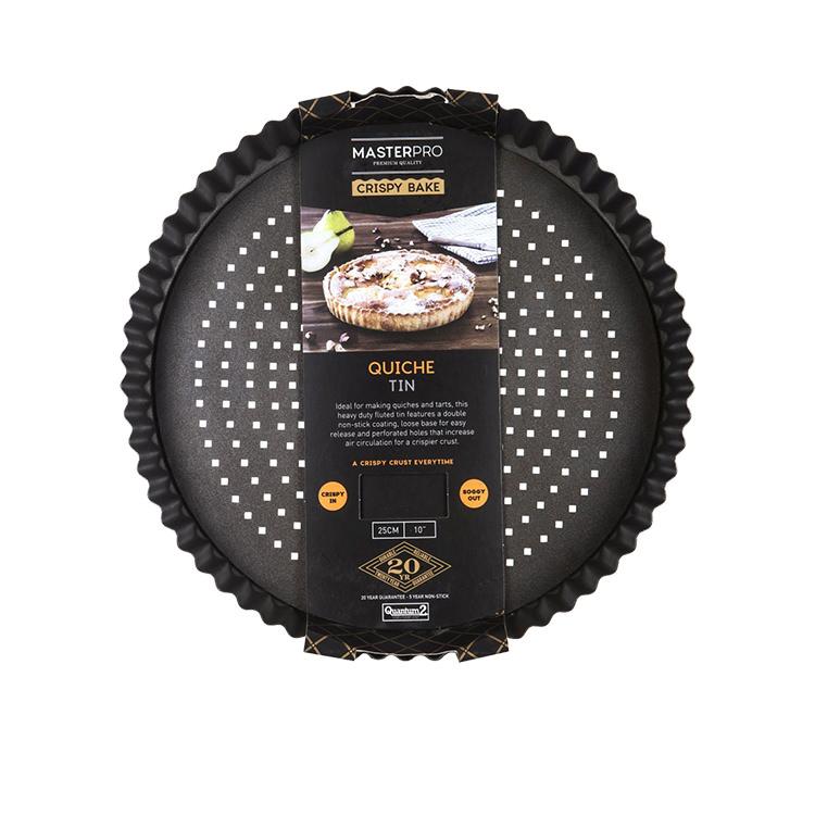 MasterPro Crispy Bake Loose Base Round Quiche Tin 25x3.5cm image #4