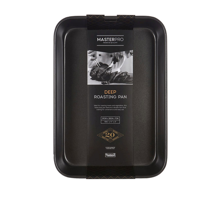 MasterPro Non-Stick Large Deep Roasting Pan 38x26x7.5cm