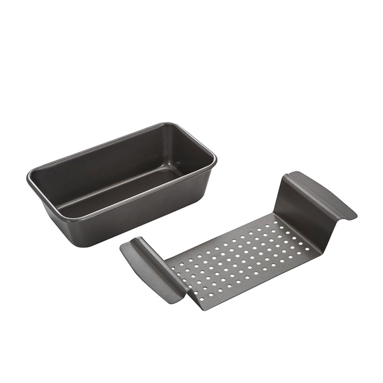 MasterPro Non-Stick Loaf Pan with Insert Drip Tray 24.5x15x7cm