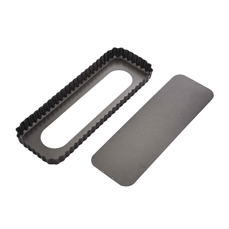 MasterPro Non-Stick Loose Base Fluted Rectangular Quiche Tin 36x13x3.5cm
