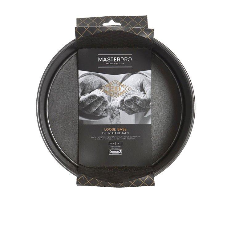 MasterPro Non-Stick Loose Base Round Deep Cake Pan 23x8cm