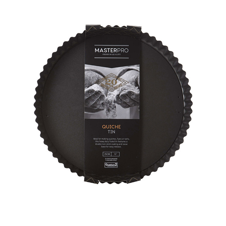 MasterPro Non-Stick Loose Base Round Quiche Tin 25x3.5cm