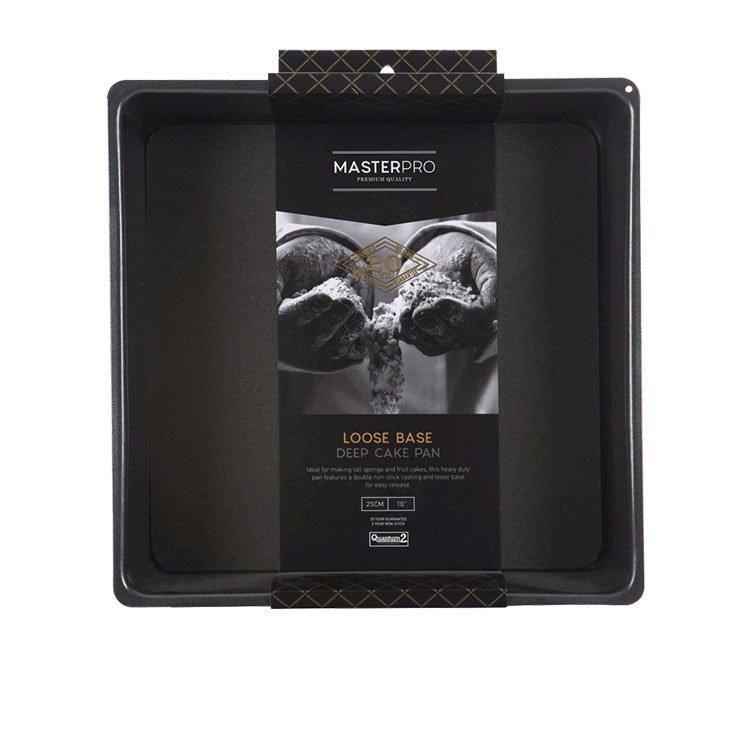 MasterPro Non-Stick Loose Base Square Deep Cake Pan 25x8cm