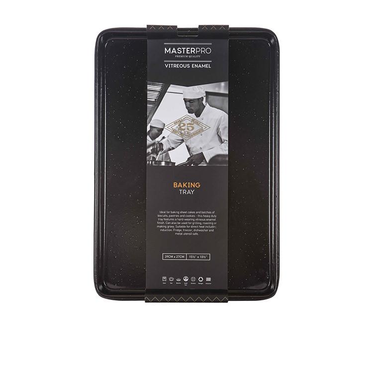MasterPro Professional Vitreous Enamel Baking Tray 40x27x2cm image #3
