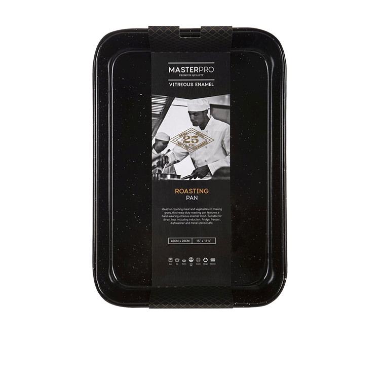 MasterPro Professional Vitreous Enamel Roasting Pan 40x28x7.5cm