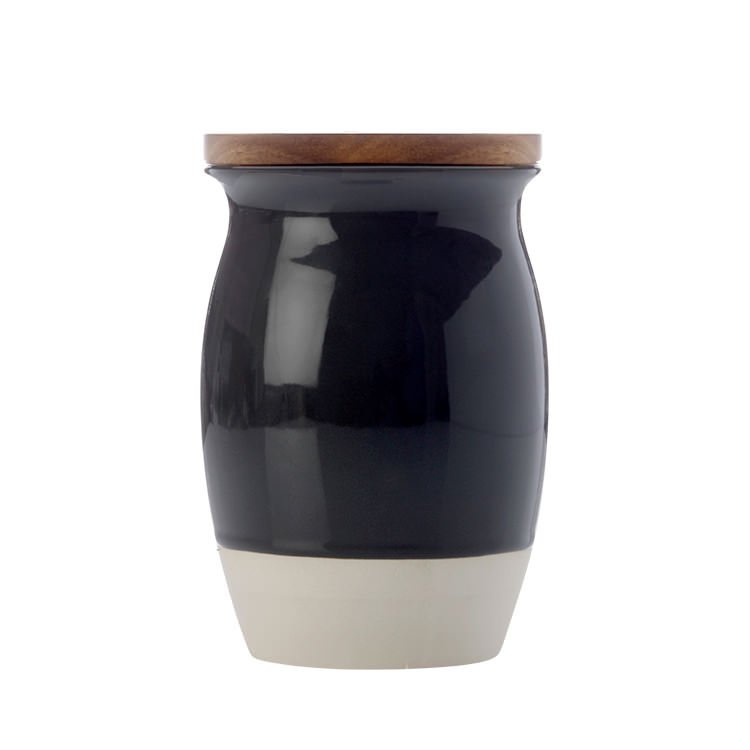 Maxwell & Williams Artisan Dipped Canister 1L Charcoal