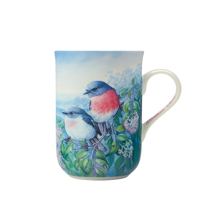 Maxwell & Williams Birds of Australia Katherine Castle Mug 300ml Rose Robin