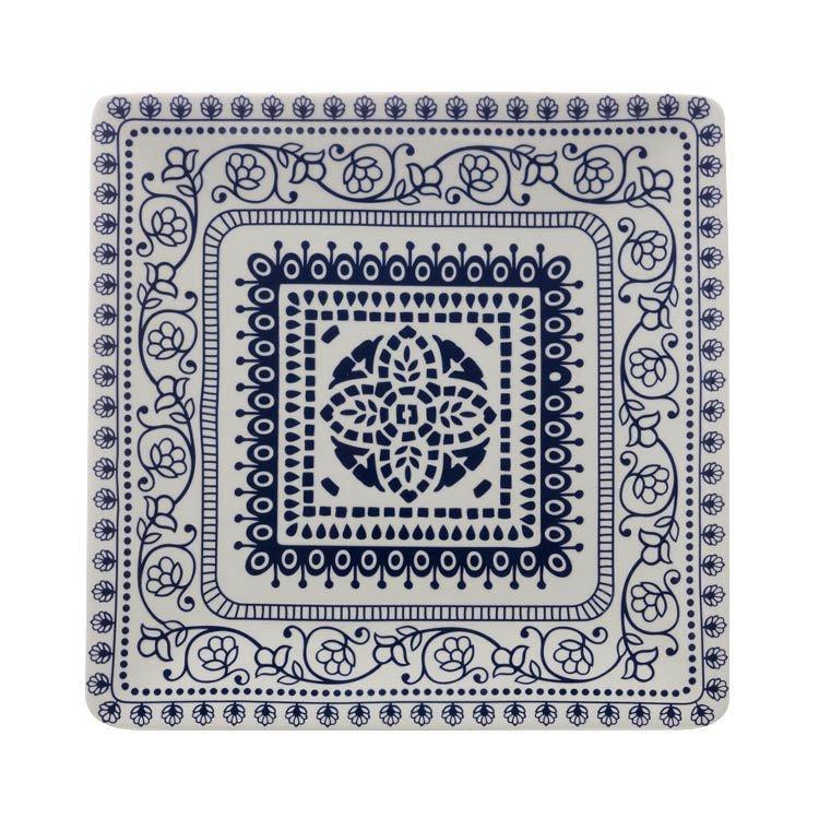 Maxwell & Williams Blue Antico Square Platter 30cm