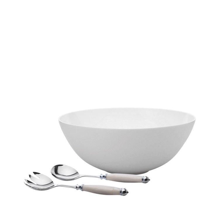 Maxwell & Williams Cashmere Serving Bowl 30cm w/ bonus Mother of Pearl Salad Set