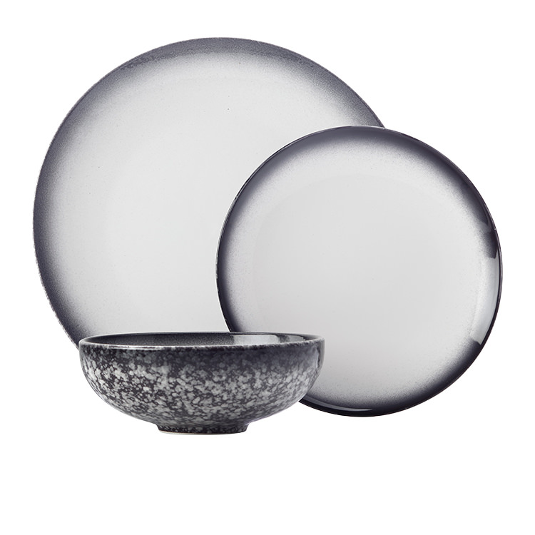Maxwell & Williams Caviar Granite Dinner Set 12pc