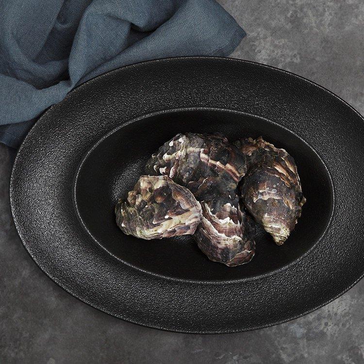 Maxwell & Williams Caviar Black Oval Bowl 20x14cm