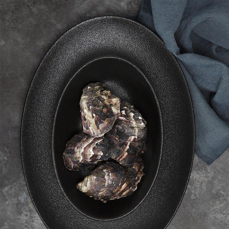 Maxwell & Williams Caviar Black Oval Bowl 25x17cm