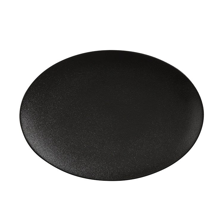 Maxwell & Williams Caviar Black Oval Plate 30x22cm