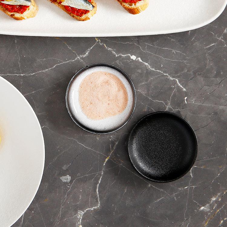 Maxwell & Williams Caviar Black Round Sauce Dish 7cm