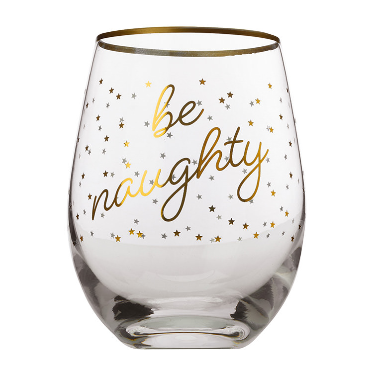 Maxwell & Williams Celebrations Stemless Glass 500ml Set of 2 Naughty
