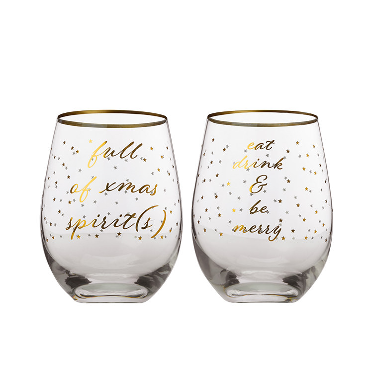 Maxwell & Williams Celebrations Stemless Glass 500ml Set of 2 Spirits