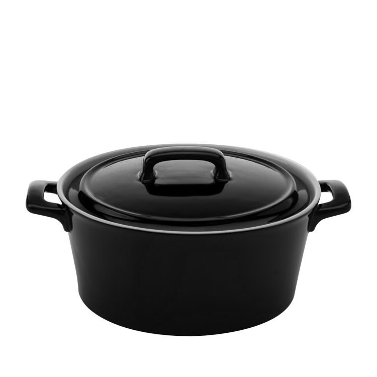 Maxwell & Williams Chef Du Monde Round Casserole 2.6L Black