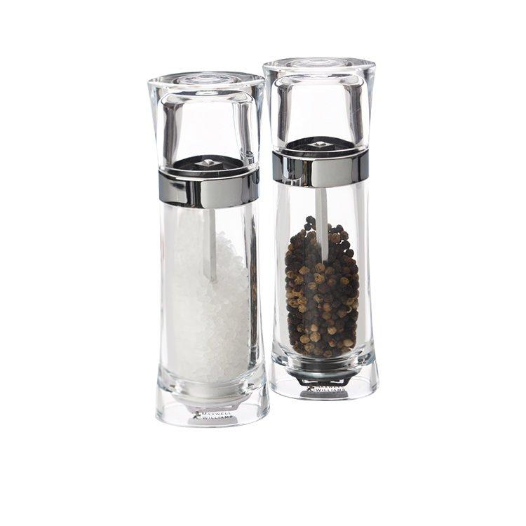 Maxwell & Williams Click Acrylic Salt & Pepper Set 18cm