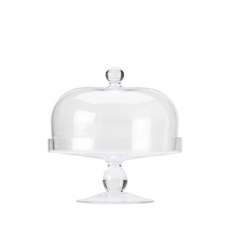 Maxwell & Williams Diamante Glass Cake Stand with Dome 20cm