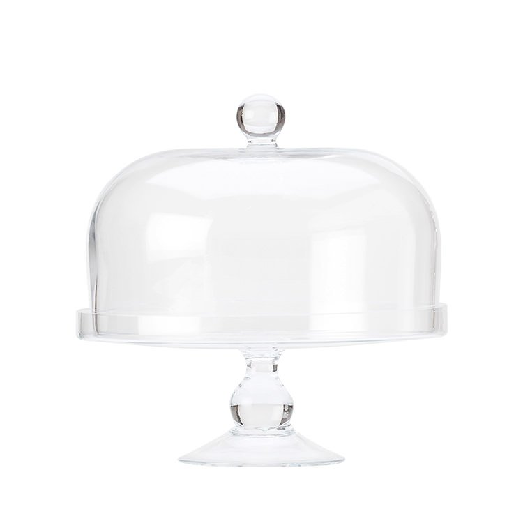 Maxwell & Williams Diamante Glass Cake Stand with Dome 25cm