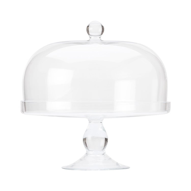 Maxwell & Williams Diamante Glass Cake Stand with Dome 30cm