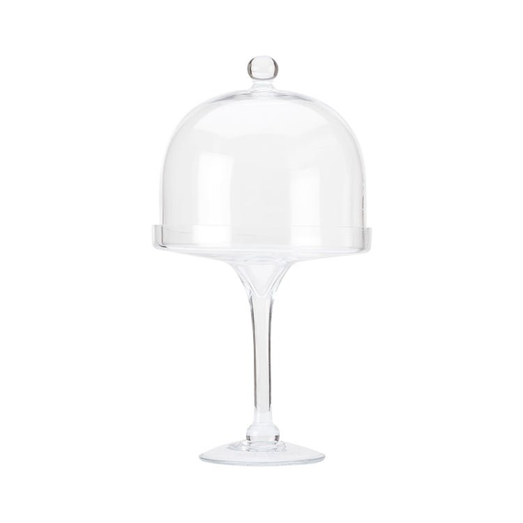Maxwell & Williams Diamante Glass Cake Stand with Straight Dome 20cm