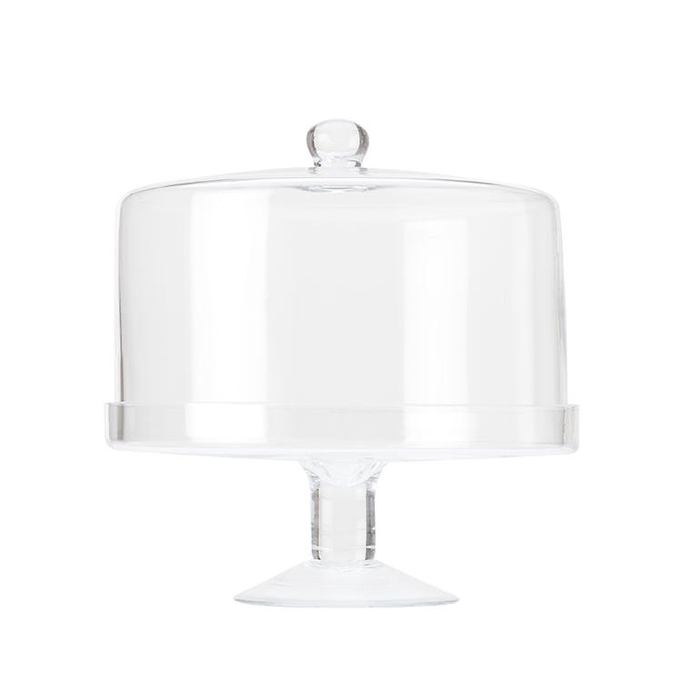 Maxwell & Williams Diamante Glass Cake Stand with Straight Dome 25cm