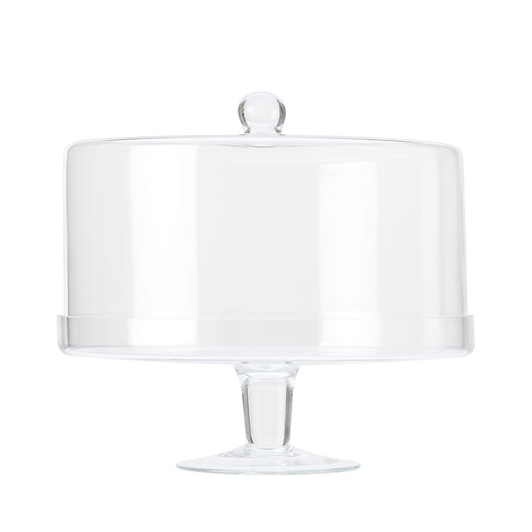 Maxwell & Williams Diamante Glass Cake Stand with Straight Dome 30cm