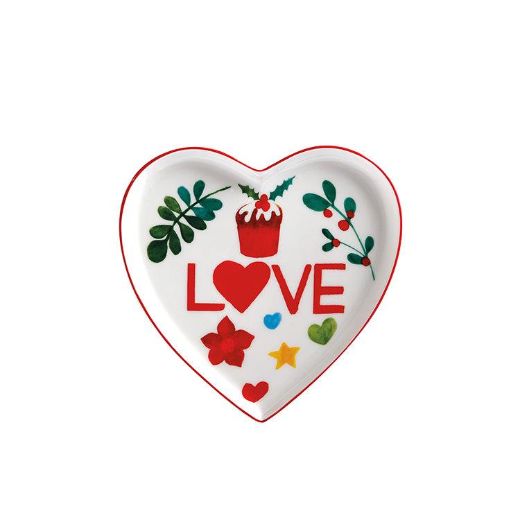 Maxwell & Williams Joy Love Peace Heart Plate 13cm