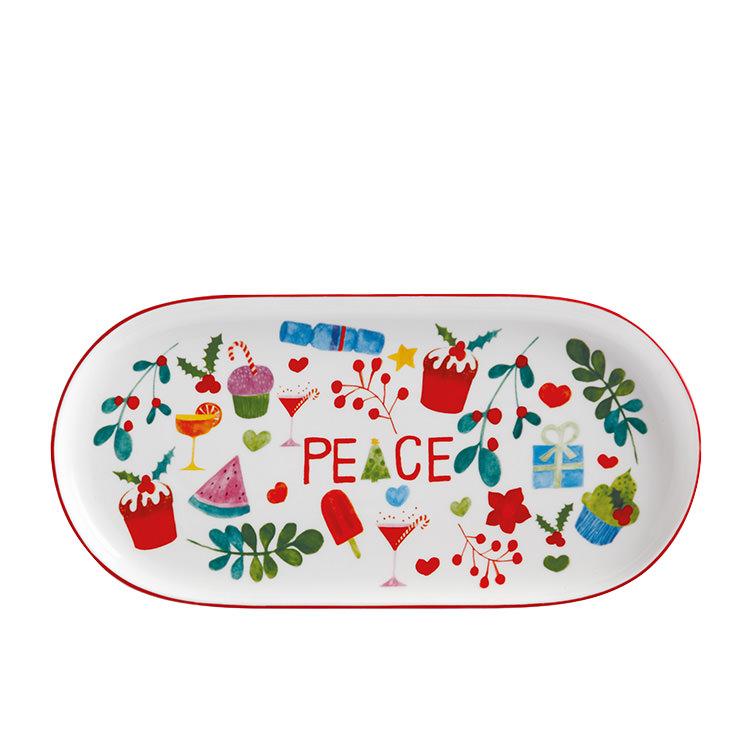 Maxwell & Williams Joy Love Peace Oblong Platter 30x15cm