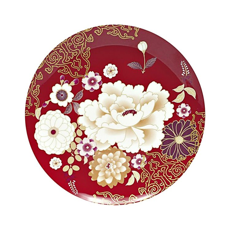 Maxwell & Williams Kimono Cake Plate Red