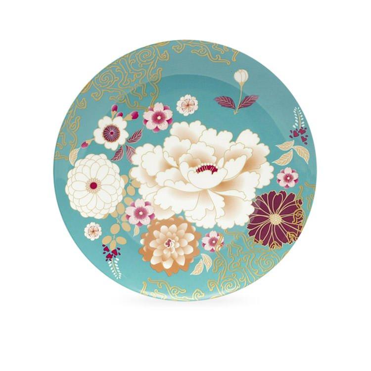Maxwell & Williams Kimono Cake Plate Teal