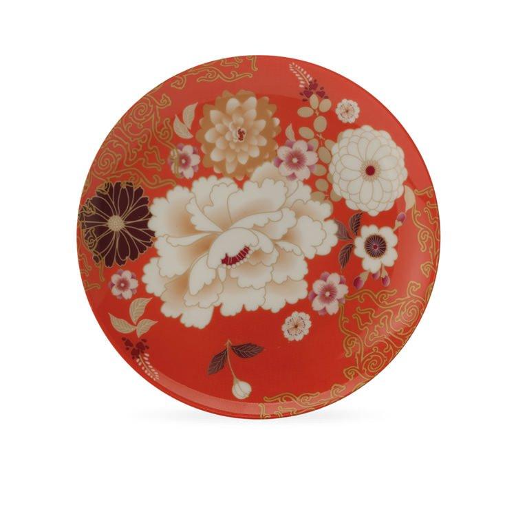 Maxwell & Williams Kimono Cake Plate Coral