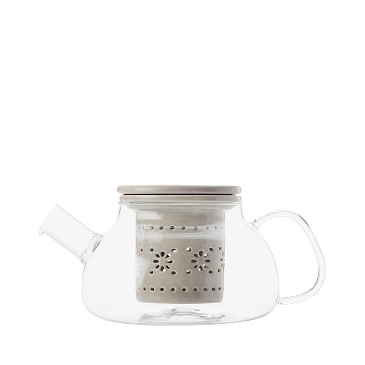 Maxwell & Williams Lille Glass Teapot with Infuser 700ml Grey