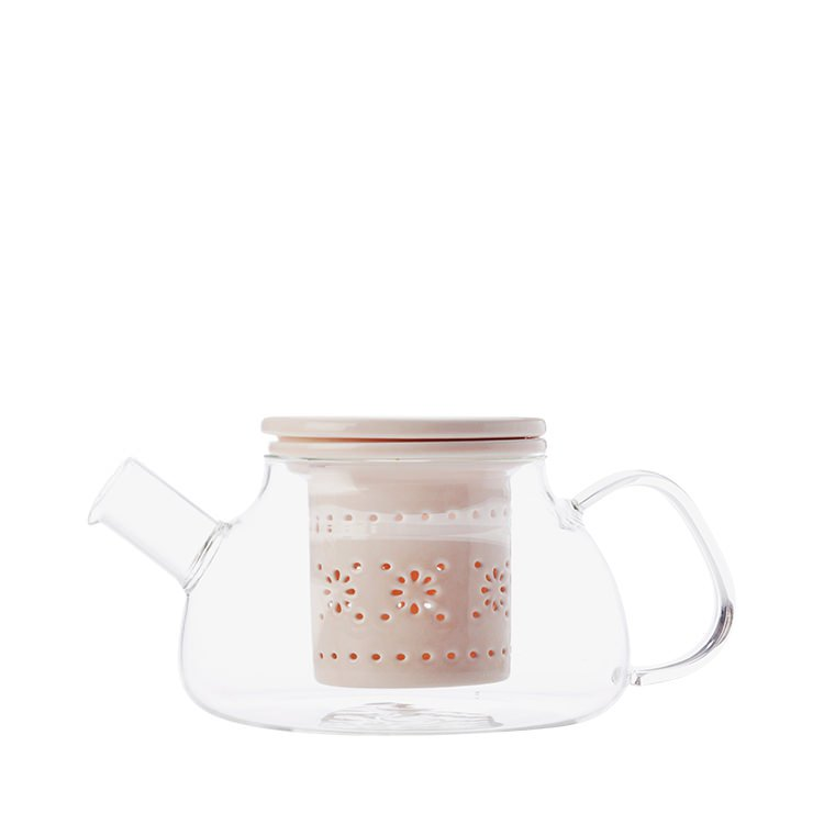 Maxwell & Williams Lille Glass Teapot with Infuser 700ml Pink