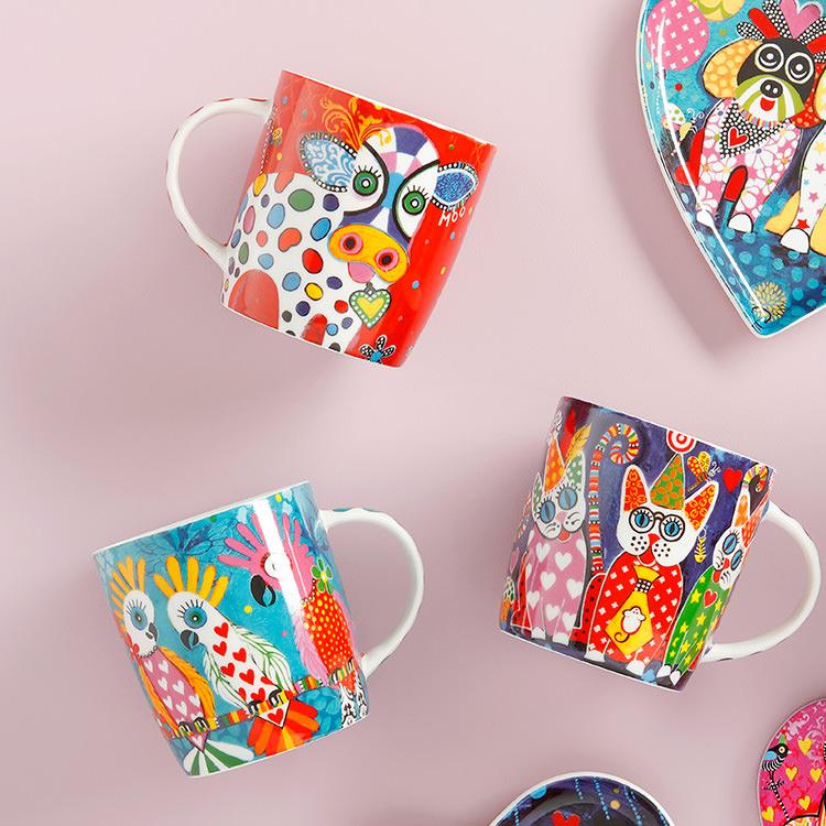 Maxwell & Williams Love Hearts Mug 370ml Rainbow Girls