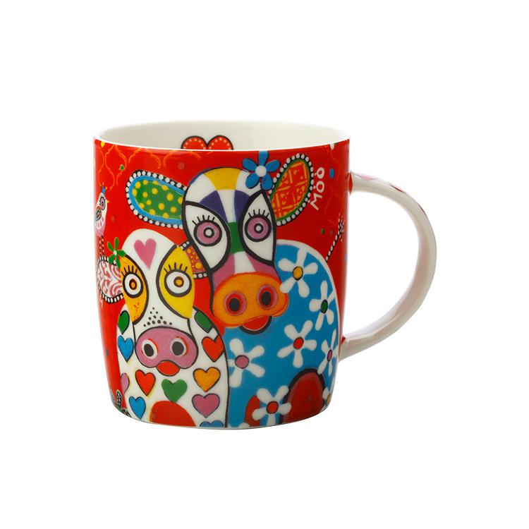 Maxwell & Williams Love Hearts Mug 370ml Happy Moo Day