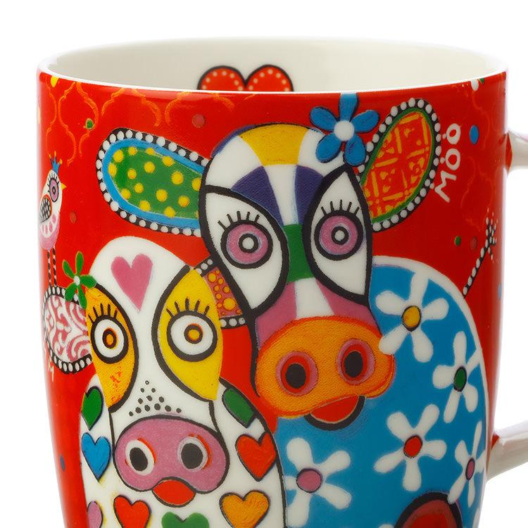 Maxwell & Williams Love Hearts Mug 370ml Happy Moo Day image #2