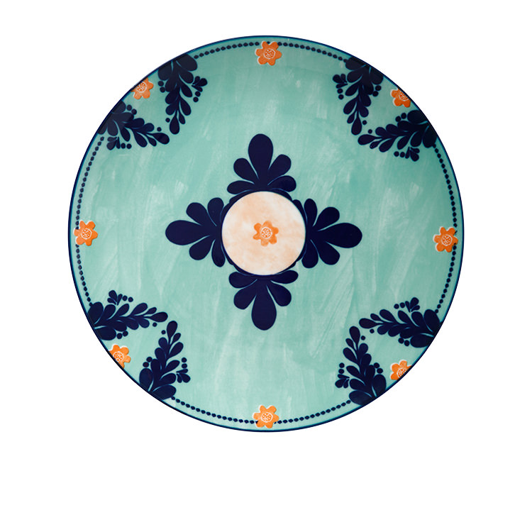 Maxwell & Williams Majolica Dinner Plate 26.5cm Teal