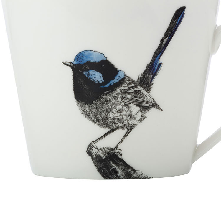 Maxwell & Williams Marini Ferlazzo Birds Mug 450ml Squat Fairy Wren
