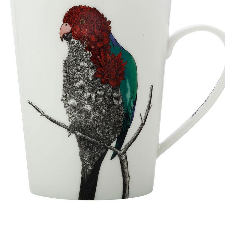 Maxwell & Williams Marini Ferlazzo Birds Mug 450ml Tall Parrot
