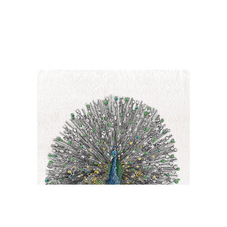 Maxwell & Williams Marini Ferlazzo Birds Tea Towel 50x70cm Peacock